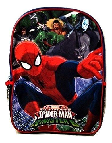 [Spiderman Marvel Action Figure Marvel Boys' Ultimate Spider man Back to School Backpack Web] (Spiderman Costumes Walmart)