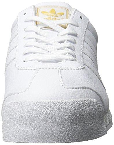 Adidas Originals Men's Samoa Retro Sneaker,White/White/Gold,9 M US