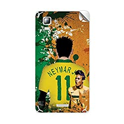 ezyPRNT Micromax Canvas Doodle 3 A102 Neymar Football Player mobile skin sticker