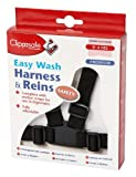 Clippasafe Easy Wash Harness and Reins (Black)