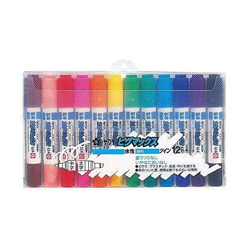 サクラクレパス 水性ペン ピグマックスツイン 12色 ZPK-T12