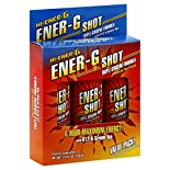 Hi Energy G Ener-G Shot, Triple Ginseng Formula, Natural Tea Flavor, Value Pack, 3 bottles 5.4 fl oz (160 ml)
