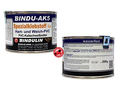 350ml Bindu AK5-Speciale colla PCV-Colla per in PVC duro & PVC morbido in PVC per una connessione cuciture-klebt PVC con pelle tessuto Hol plastica, grondaie PVC-piastre moderna pvc Pellicola per laghetto piscina vinile