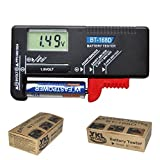 YKL World Digital Battery Tester Volt Checker for AA AAA C D 9V 1.5V Cell BT-168D