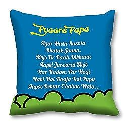 meSleep Pyaare Papa Cushion Cover (16x16)