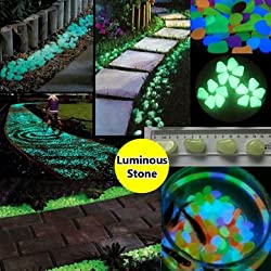 10pcs Aquarium Fish Tank Luminous Glowing Stone Aritificial Pebble Stone Aquarium Garden Decoration - Light Purple