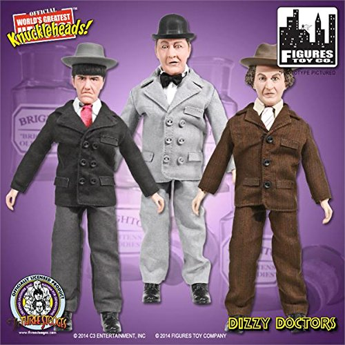 "World's Greatest Knuckleheads the Three Stooges Retro Set of 3 Action Figures from ""Dizzy Doctors!"""