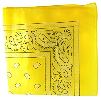 Paisley Cotton Bandana Yellow