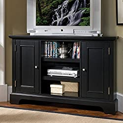 Home Styles Bedford Corner Entertainment TV Stand - Black Finish by Home Styles