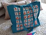 London Olypics 2012 Silhouette Pictogram Turquoise Shoulder Canvas Bag New