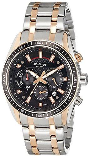 Titan Octane Chronograph Black Dial Men's Watch – 90077KM03J