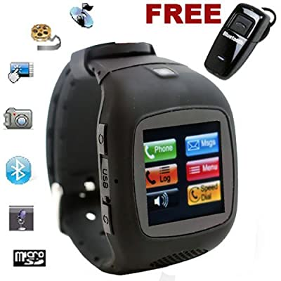inDigi® Unlocked! G13 GSM Multimedia Wireless Watch Phone w/ Bluetooth Spy Camera Video (US Seller) from inDigi