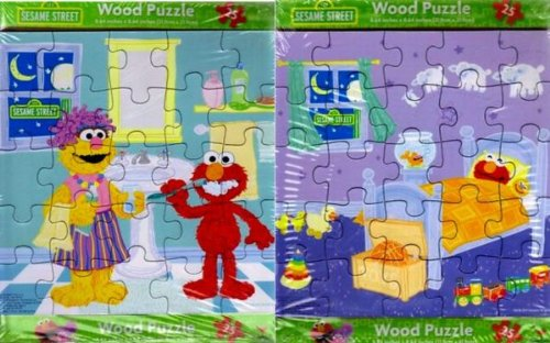 Sesame Street Elmo Wood Puzzle 25 Piece One Puzzle - Varied Image