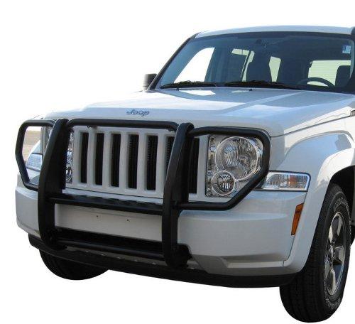 Brand New 2008 2012 Jeep Liberty Grille Saver Bumper Brush Guard Black Exterior Accessories