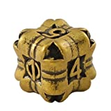 1 (One) Single IronDie: Solid Metal Italian Dice - Yellow Regeneration (Die-Cast Designer Six-Sided