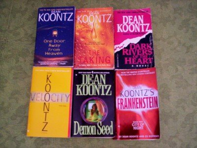 Dean Koontz - Set Of 6 (Dark Rivers Of The Heart - Frankenstein- One Door Away From Heaven - Velocity - The Taking - Demon Seed) (Dean Koontz Taking compare prices)