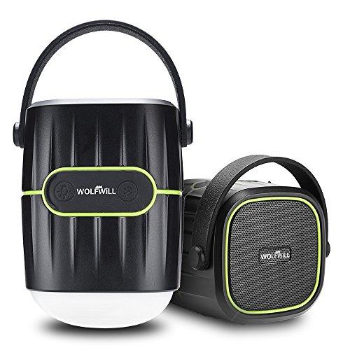 WOLFWILL-8000mAh-Wiederaufladebare-Camping-Laterne-Bluetooth-Lautsprecher-41V-Wasserdicht-Power-Bank-Flashlight-wUSB-Ladegert