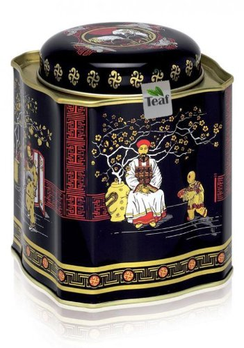 Caribbean Love Dream - Fruit Tea - In A Black Jap Caddy Fitted Lid Square - 103X103X118Mm (200G) front-1050487