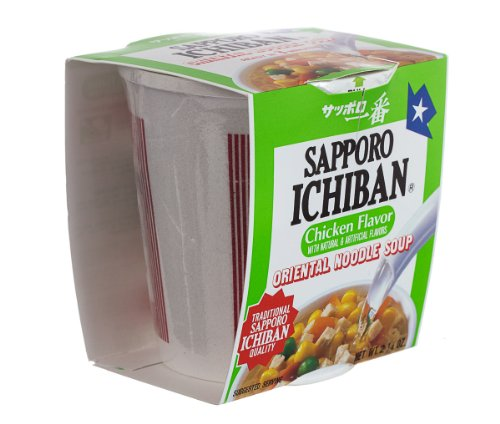 Sapporo Ichiban Soup Cup, Chicken Noodle, 2.25-Ounce Cups (Pack of 12)