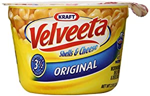 Kraft Velveeta Shells and Cheese Original Microwaveable Single Serve Cups, 19.1 Ounce