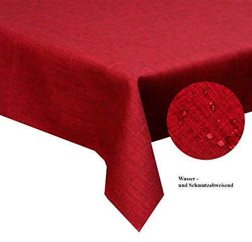 Tischdecke-bordeaux-135-x-200-cm-abwaschbar-Schmutz-und-Wasserabweisend-eckig-Gre-Farbe-Form-whlbar-Rund-Eckig-Oval