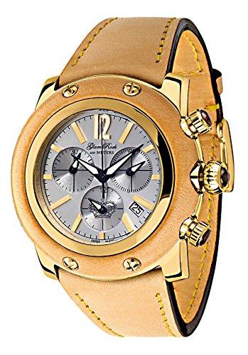 Glam Rock GR10123 - Reloj cronógrafo de cuarzo para mujer con correa de piel, color beige