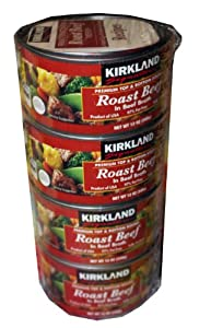 Kirkland Signature Roast Beef NET WT 12 oz (pack of 4).
