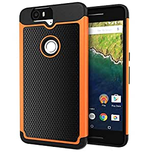 Nexus 6P Case, Cimo [Shockproof] Case Heavy Duty Shock Absorbing Dual Layer Protection Cover for Huawei Google Nexus 6 (2015) - Orange