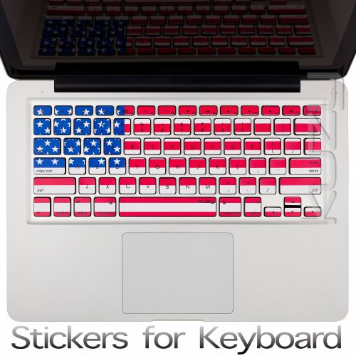 =>  Kuzy - Stickers USA Flag Keyboard Skin for MacBook Pro 13