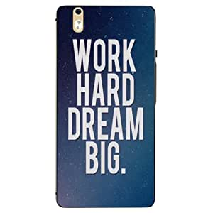 Snazzy Slogan Printed Multicolor Hard Back Cover For InFocus M810