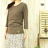 CUBESUGAR (キューブシュガー) クルーネック7分袖Tシャツ