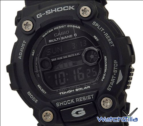 Casio Casio Men's GW7900B-1 G-Shock Solar Atomic Black Digital Sport Watch