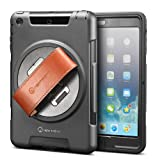 New Trent Gladius Mini Ipad Case Compatible: Ipad Mini Retina. Rugged: Water - Dirt and Shock Proof - 360 Rotation - Leather Hand Strap - Built-in Stand.