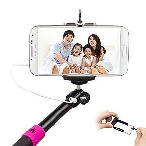 cradles mounts stands tomeasy built in remote cable extendable selfie handheld stick. Black Bedroom Furniture Sets. Home Design Ideas