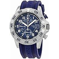 Nautica NAI16512G Men's Chronograph Blue Dial Quartz Watch with Rubber Strap