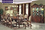 Inland Empire Furniture Layla Walnut Solid Wood 7 Piece Formal Dining Room Set