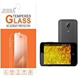 Johra 9H 2.5D Real HD+Tempered Glass Screen Scratch For LYF Flame 5 Tempered Glass