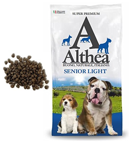 Althea Senior Light 15 kg - Crocchette alla carne per cani anziani di taglia media e grande, naturali al 100%