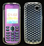 Trendline24 Soft Skin Gel Case Design: Diamond Clear for Nokia C1-02 - included Softbag