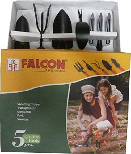 Falcon FGTB- 94/5 5-Piece Steel Garden Tool Set (Multicolor)