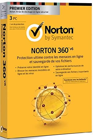 Norton 360 V6 - premier édition (3 postes, 1 an)