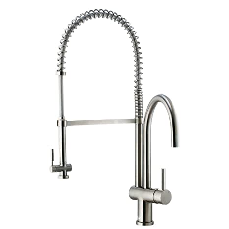VIGO Dresden Pull-Down Spray Kitchen Faucet, Stainless Steel