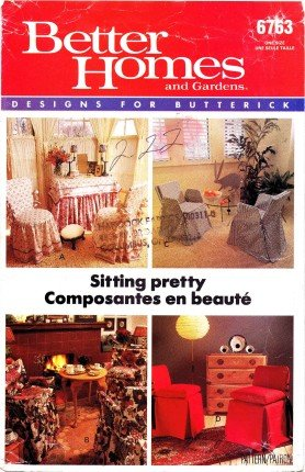 Butterick 6763 Sewing Pattern Better Homes And Gardens Chair Covers front-59018