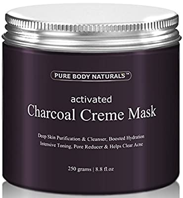 Best Cheap Deal for Activated Charcoal Face Mask, Charcoal Facial Mask Treatment Mud Mask - Improved Formula - 8.8 fl. oz. by Pure Body Naturals from Pure Body Naturals - Free 2 Day Shipping Available