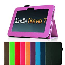 Fintie (Violet) Slim Fit Leather Case Cover Auto Sleep/Wake for Kindle Fire HD 7