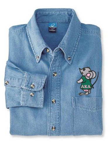 Alpha Kappa Alpha Denim Shirt - Mouse
