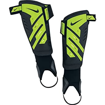 NIKE Schienbeinschoner Protegga Shield - Tobillera para voleibol ( fútbol ), color negro / verde, talla M