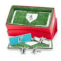 Florida Marlins Cufflinks, Moneyclip & Tie Bar Gift Set by Cufflinks Inc