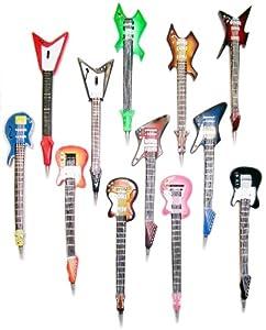 Inkology Original Rock Star Guitar Pen, Ball Point, Assorted Styles - 6 Pieces (630-5)