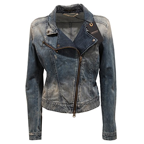 5538P giacca jeans IMPERIAL blu denim giacche donna jackets woman [L]